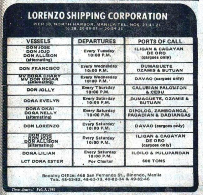 1980-2-3 Lorenzo Shipping
